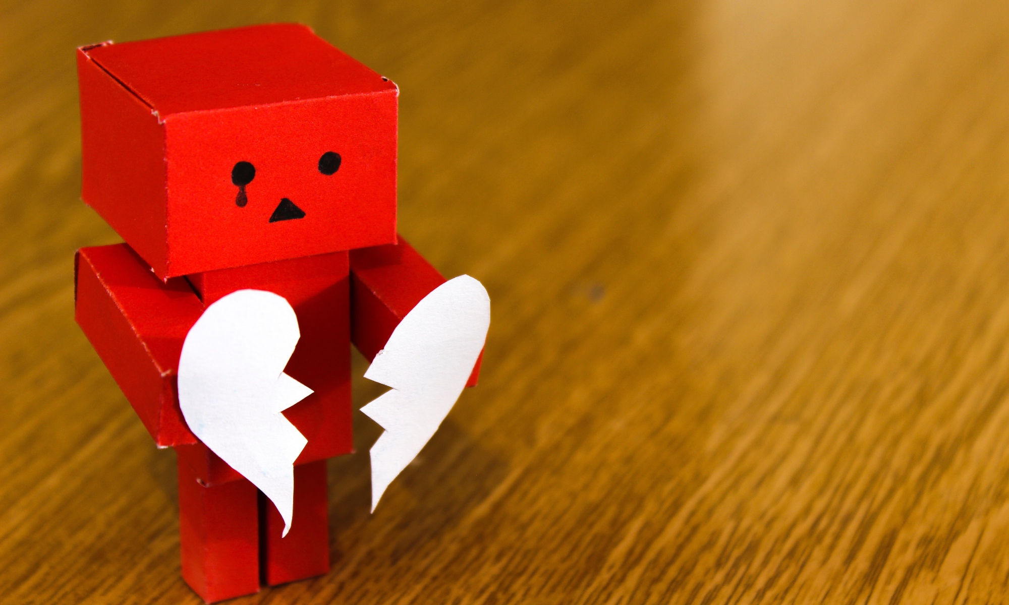 Robot with a broken heart